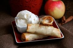 Apple Pie Egg Rolls (step by step photos)