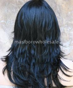 Love, love, Love! Layered long haircut, jet black