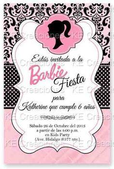 invitaciones barbie kit imprimible fiesta cumpleaños
