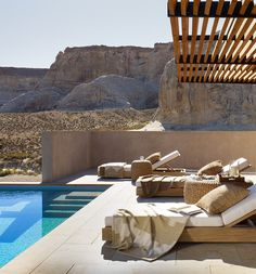 Ralph Lauren Home redefines a desert oasis as luxe poolside lounging