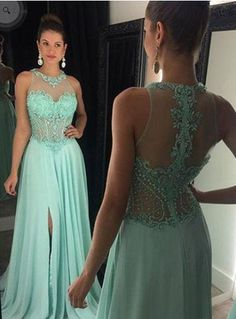 mint prom dress,charming Prom dress,cheap prom dress,floor-length prom dress,evening dress,BD1016