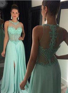 mint prom dress,charming Prom dress,cheap prom dress,floor-length prom dress,evening dress,BD1016