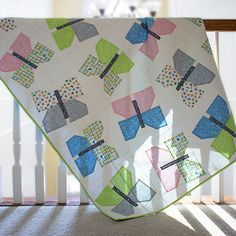 Butterfly Quilt by Linda Spiridon Quilter\'s Cotton from Make It Sew Projects for Cloud9 Fabrics