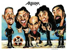 Anthrax band caricature