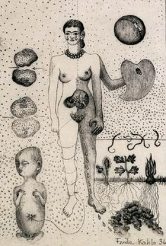 Frida Kahlo - From her sketchbook, 1936