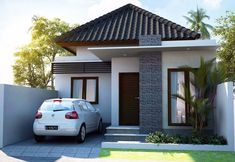 rustic home decor direct sales using exterior house design app free with indian house front elevation ground floor for 150 sq yards house plans india Bungalow House Design, House Front Design, Small House Design, Modern House Design, One Storey House, Modern Minimalist House, Design Home App, Balcony Design, Facade House
