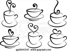 stock illustration coffee and tea cups vector