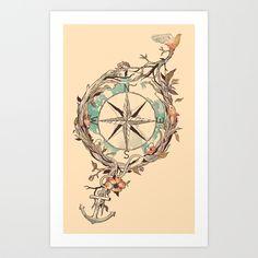 Bon Voyage Art Print by Norman Duenas | Society6