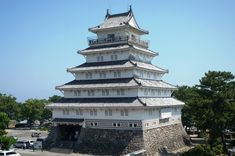 Shimabara Castle in Shimabara, Nagasaki Prefecture (Japan)