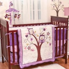 Cute Baby Nursery Set: Purple Owl Design Baby Nursery Set ~ Bedroom Inspiration