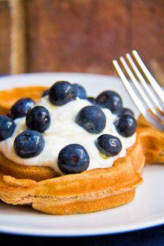 protein waffles - such a good idea!