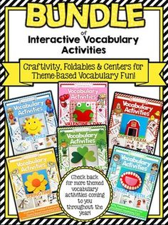 Vocabulary Activities - Value Bundle of Interactive Vocabulary Activities. Grab this progressive bundle now at a low price and receive all future updates FREE!