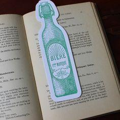 Letterpress Bookmark - Biere | Sesame Letterpress Store
