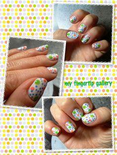My Fingertip Gallery: Summer dots / Summer dots