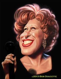 Caricature Art by Bob Doucette - Bette Midler Funny Caricatures, Celebrity Caricatures, Celebrity Drawings, Cartoon Faces, Funny Faces, Cartoon Art, Caricature Artist, Caricature Drawing, Drawing Art