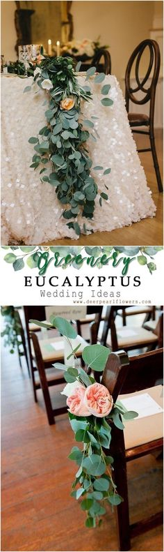 Hochzeitsdekore ideen 2020 Wedding Trends: 100 Greenery Wedding Decor Ideas - We. Wedding Ceremony Ideas, Wedding Trends, Reception Ideas, Rustic Wedding, Our Wedding, Dream Wedding, Wedding Table Centerpieces, Wedding Decorations, Wedding Colors