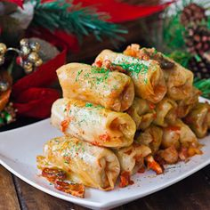 My recipe for traditional Romanian Cabbage Rolls (Sarmale) are made with sour cabbage stuffed with pork, beef and bacon. They're the best cabbage rolls! Cabbage Recipes, Pork Recipes, Cooking Recipes, Healthy Recipes, Healthy Food, Sour Cabbage, Cabbage Leaves, Pickled Cabbage, Jo Cooks