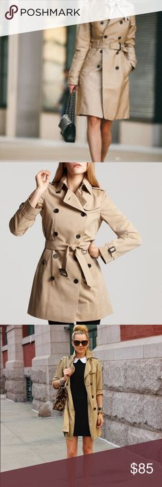 Zara Basic Trench Raincoat - EUC!! Zara Basic Trench Raincoat in khaki. Size Small. Only worn 3 times - in excellent condition! There are two small holes in the right pocket, but otherwise this coat looks new!! Pretty plaid lining - removable. Detachable belt. Lining: 100% polyester. Exterior: 86% acrylic, 10% wool, 4% other fibers. I believe stock photo is of actual jacket. My photos came out a little light. Color closest to stock photo.  🚫 Trades 🚫 Offline transactions 💛 Offers 💛…