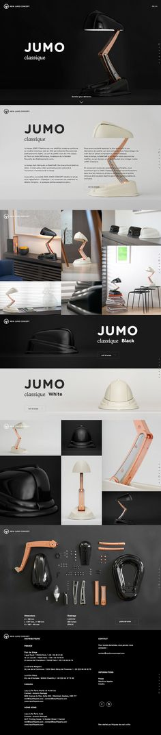 Beautiful one pager promoting the new 'JUMO Classique lamp' series. Just love how you begin scrolling with the lamp expanding and the light turning on, such an awesome touch. Really like the unique split screen information overlays that slide in when clicking the product hotspots. Only real crit is the iFrames with the scrolling content but as a reference to showcase a product range in one page, this is excellent.