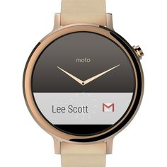 Motorola - Moto 360 2nd Generation Women's Smartwatch 42mm Stainless Steel - Rose Gold/Blush Leather - AlternateView13 Zoom