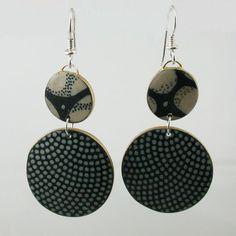 Circular Polymer Clay Earrings
