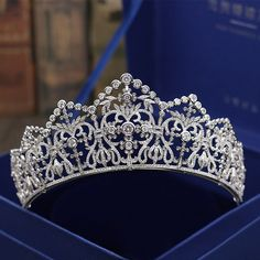 VLC22 Luxury Bridal Crown,Royal Crown,Retro Crown,Zircon Bridal Crown,Wedding Crown,Wedding Tiara,Princess Tiara,Sparkling Silver Crown