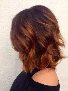 copper auburn hair color, copper hair color for auburn ombre brown amber balayage and blonde hairstyles Pelo Popular, Auburn Balayage, Auburn Ombre, Hair Color Auburn, Short Auburn Hair, Auburn Hair Copper, Copper Bob, Long Bob Hairstyles, Blonde Hairstyles