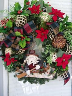 Christmas Wreath Christmas on the Bayou Wreath by AnnieOjan
