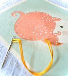 Tarjetas descargables para aprender a bordar : Para Niños Con Cabeza
