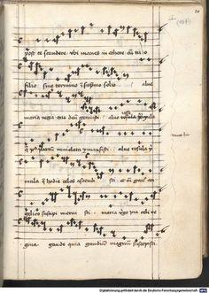 Cantionale, Geistliche Lieder mit Melodien. Münchner Marienklage Tegernsee, 3. Drittel 15. Jh. Cgm 716  Folio 20