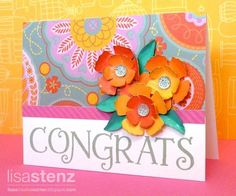 Have you seen the new Dream Pop Promotion? The papers and patterns are so bright and fun! I created this card as part of a gift for one of my downline who won a team challenge last month. Feel free to visit my blog for details: http://lisascreativecorner.blogspot.com/2013/05/dream-pop-congrats-card.html