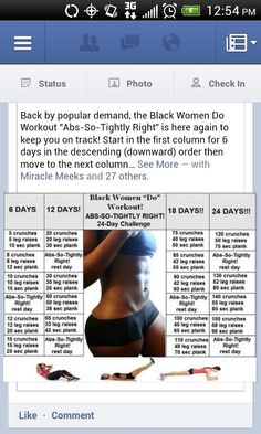 Black Women do Workout-24 day challenge. Cuz in pretty sure I have a black woman's body :)