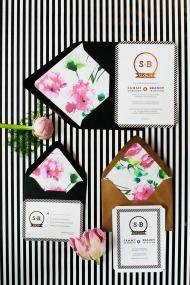Modern Stripes + Florals Wedding Inspiration - Style Me Pretty