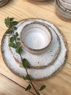 Sarah Schembri Ceramics: Plate & Bowl Set - White (A$99.00)