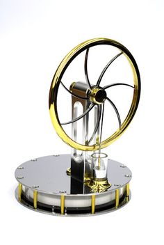 Low Temperature Differential Stirling Engine - CarlAero Ltd.: Beautifully made in Germany, these small engines turn from just the heat of your hand, a cup of coffee or any other heat source. Check out the brief video.