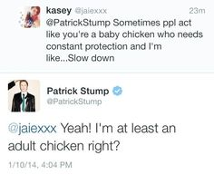 Patrick stump is so cute