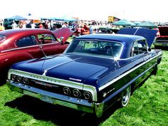 1964 Chevy Impala SS - When designers looked at the cars they came up with in the second half of the 1950s, they were probably so ashamed that the mid sixties cars looked simple compared to their baroque predecessors.