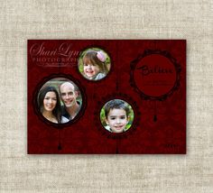 """christmas card holiday greetings family picture card """"believe""""  @Cardtopia Designs"""