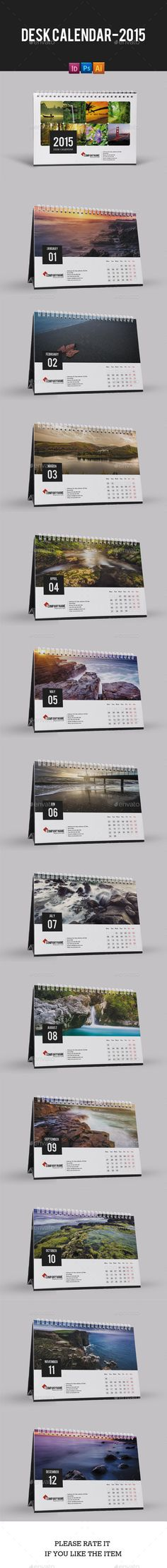 Desk Calendar for 2015 - Calendars Stationery