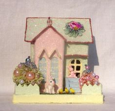 Easter house (like the cardboard decorated Christmas houses)