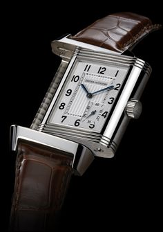 Jaeger LeCoultre Reverso.  The most iconic among square-shaped watches.  I think it was seen on Christian Bale's wrist in the Batman films, if you care about that sort of things.