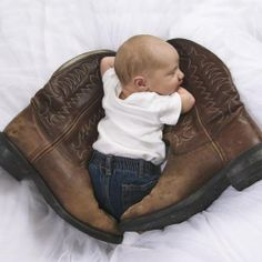 boots baby-- maybe with the harley boots