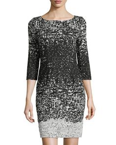 Carter Printed Sheath Dress, Black/White by Catherine Catherine Malandrino at Neiman Marcus Last Call. Rehearsal Dinner Looks, Rehearsal Dinner Dresses, I Dress, Sheath Dress, Catherine Malandrino, Capsule Wardrobe, Tunic Tops, Dress Black, Black And White