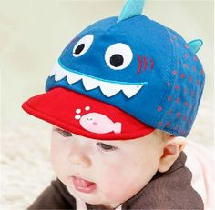 Shark cap for baby 3 to 12 months lovely animal baseball cap
