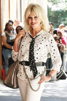 "Joanna Lumley makes an appearance on ""The View"" to talk about her new movie ""Absolutely Fabulous: The Movie"" in New York City."