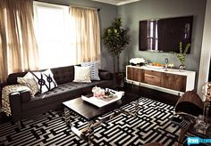 Paint color Interior Therapy with Jeff Lewis Season 1 - The Jeff Lewis Look - Photo Gallery - Bravo TV Official Site Home Living Room, Living Room Designs, Living Room Decor, Living Spaces, Carpet Design, Dream Rooms, Decoration, Modern Furniture, Jeff Lewis