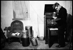 James Dean at home, spinning some vinyl, 1955. (Nice apartment huh?)  Photo by Dennis Stock