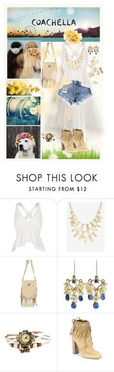 """Coachella"" by bellissabeauty ❤ liked on Polyvore featuring H&M, River Island, Kendra Scott, Scully, Karen Sugarman Designs and Aquazzura"