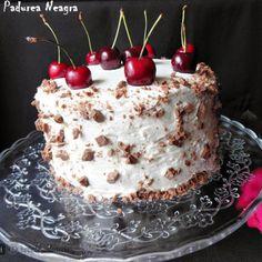 Tort Padurea Neagra Just Cakes, Desserts, Tailgate Desserts, Deserts, Postres, Dessert, Plated Desserts