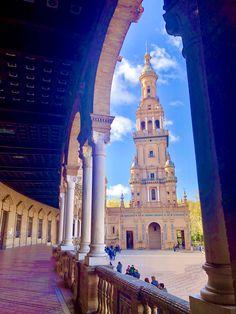 Seville's Plaza de Espana South Of Spain, Seville, Malaga, Long Weekend, San Francisco Ferry, Framed Art, Building, Wine Cellars, Sevilla